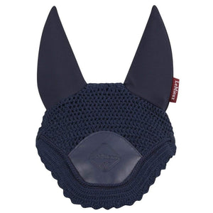 LeMieux Acoustic Pro Fly Hood Navy with insulated ears and leather front patch