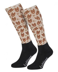 LeMieux Adult Footsie Socks - Owl