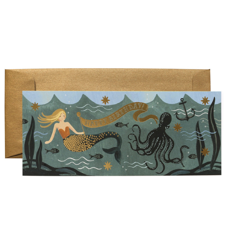 Rifle Paper Co - Single Long Card - Under the Sea Birthday