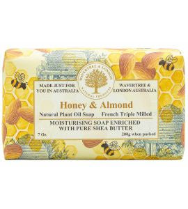 NATURAL PLANT OIL SOAP - ALMOND AND HONEY