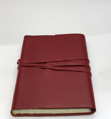Wrap Leather Journal Medioevalis Oxblood Large