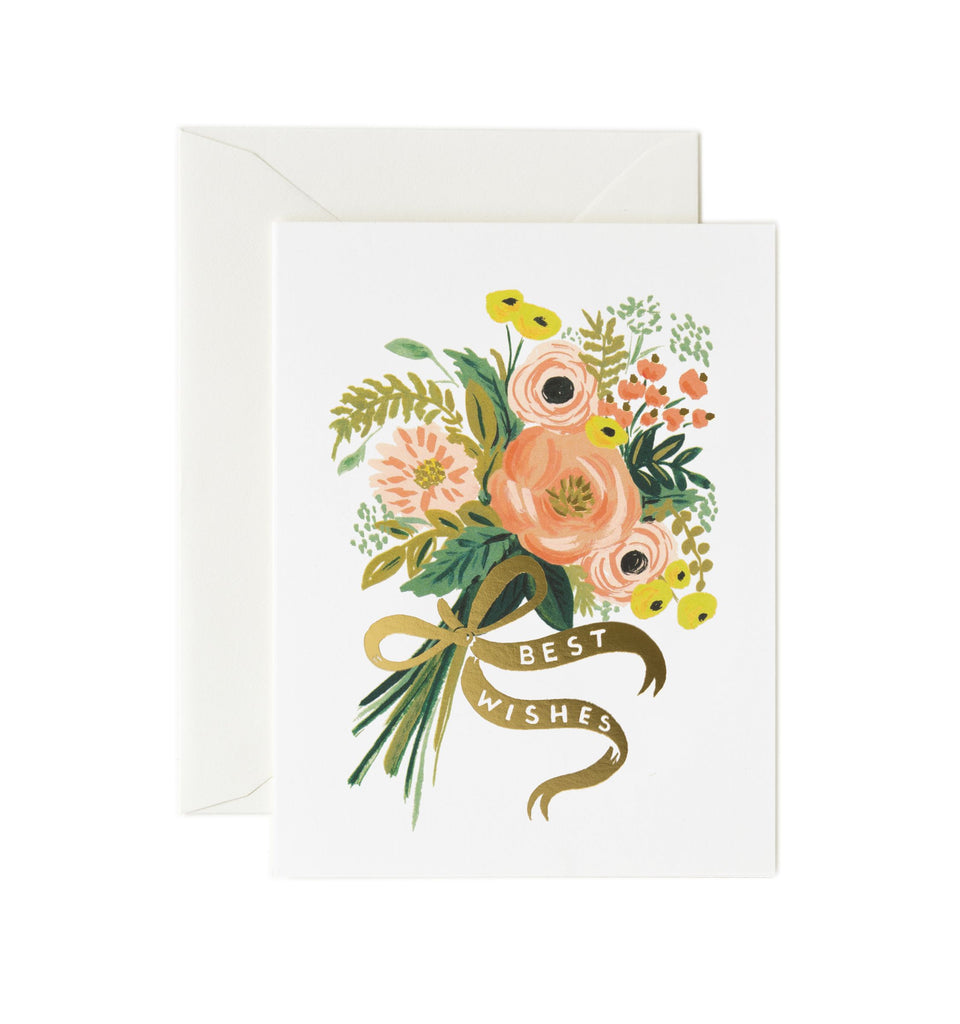 Rifle Paper Co - Single Card - Best Wishes Bouquet