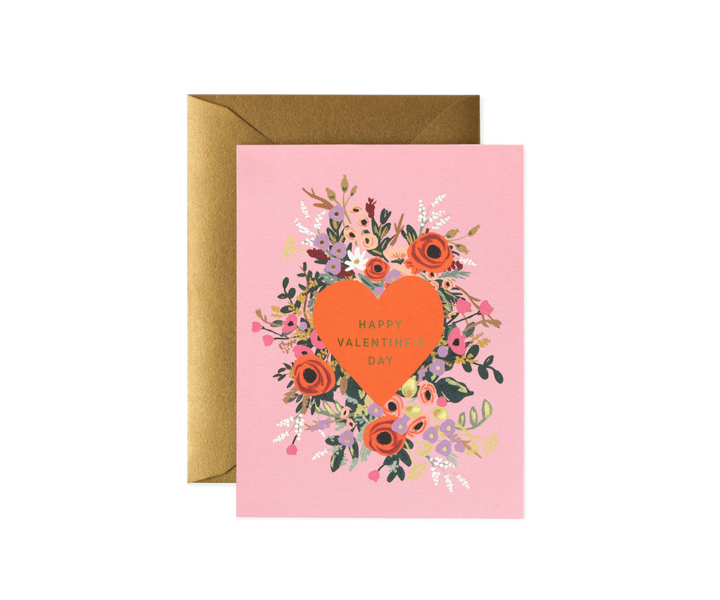 Rifle Paper Co - Single Card - Blooming Heart Valentine