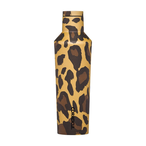Corkcicle Insulated Stainless Steel Bottle - 475ml -  Leopard Metallic