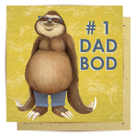 Card - Sloth Dad Bod
