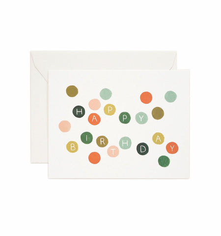 Rifle Paper Co - Single Card - Birthday Dots