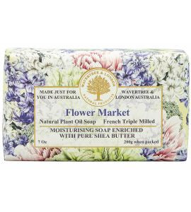 NATURAL PLANT OIL SOAP - FLOWER MARKET