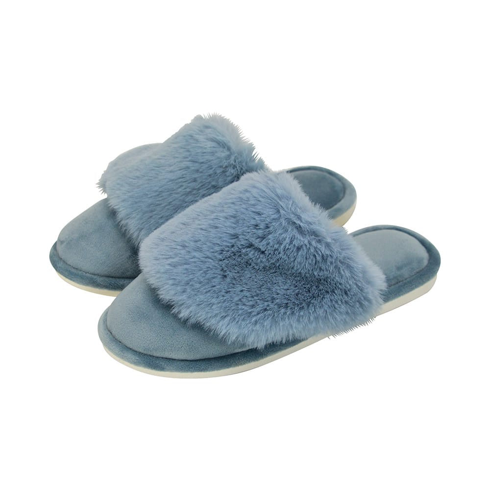 Slippers – Cosy Luxe – Dusty Blue S/M