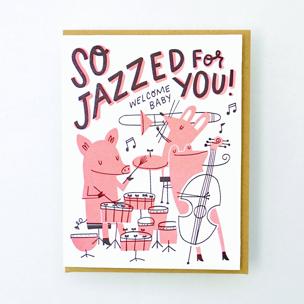 Hello Lucky - Single Card - Jazzed For Baby