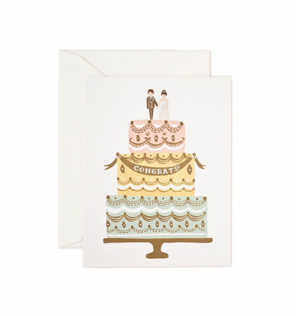 Rifle Paper Co - Single Card - Congrats Wedding Cake
