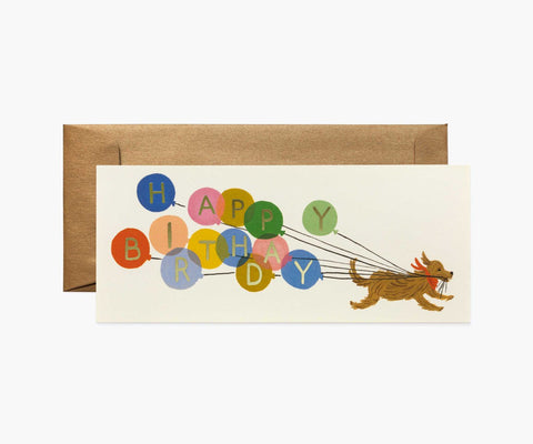 Rifle Paper Co - Single Long Card - Balloon Birthday