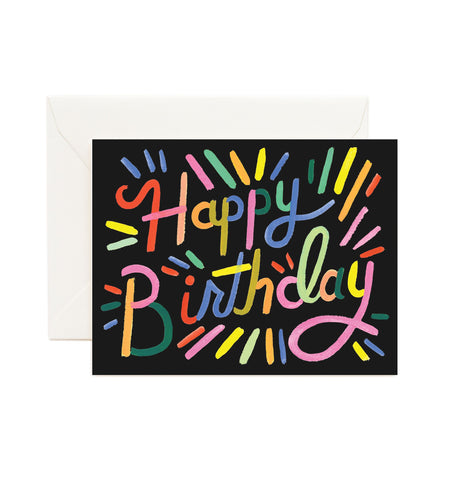 Rifle Paper Co - Single Card - Fireworks Birthday