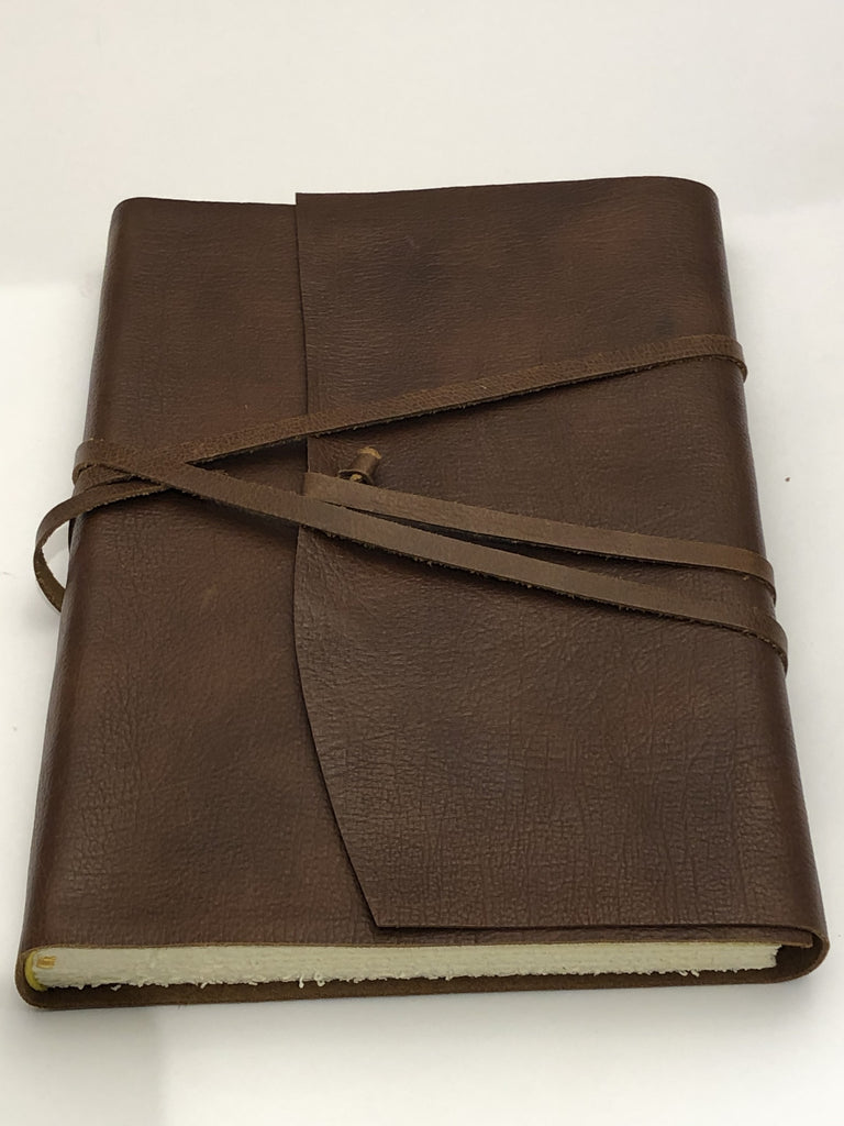 Wrap Leather Journal Medioevalis Brown Medium