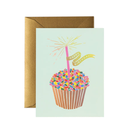 Rifle Paper Co - Single Card - Cupcake Birthday