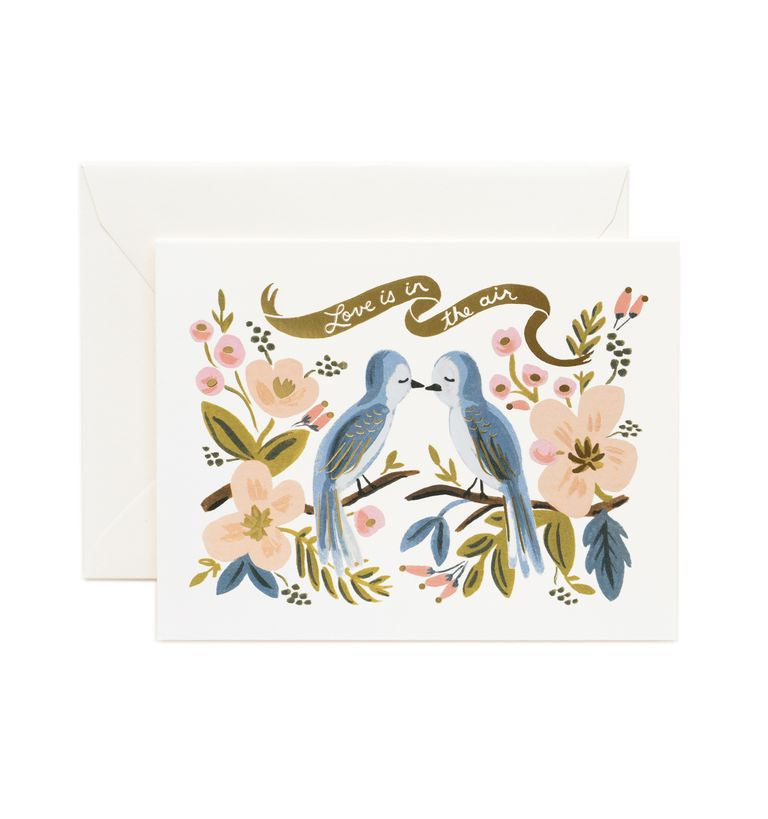 Rifle Paper Co - Single Card - Love Is In The Air