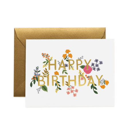 Rifle Paper Co - Single Card - Wildwood Birthday