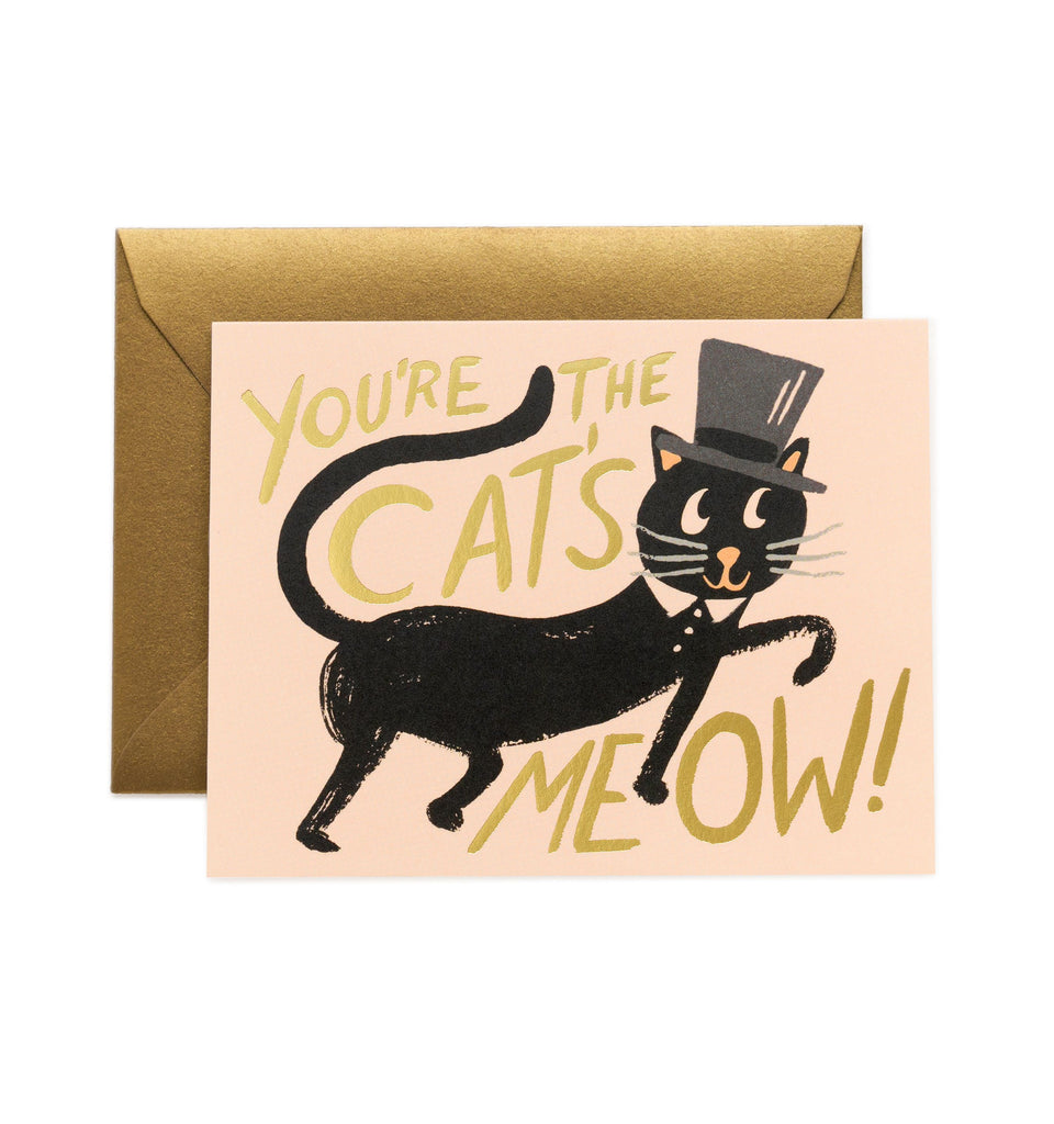Rifle Paper Co - Single Card - Cat's Meow