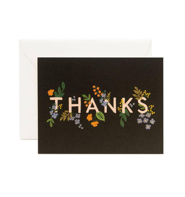 Rifle Paper Co - Single Card - Posey Thank You