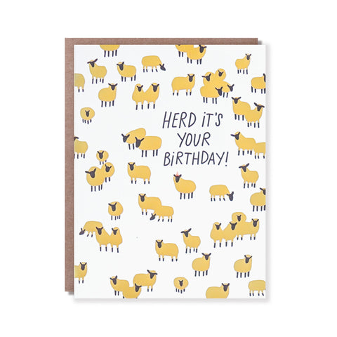 Hello Lucky - Single Card - Herd It's Your Birthday
