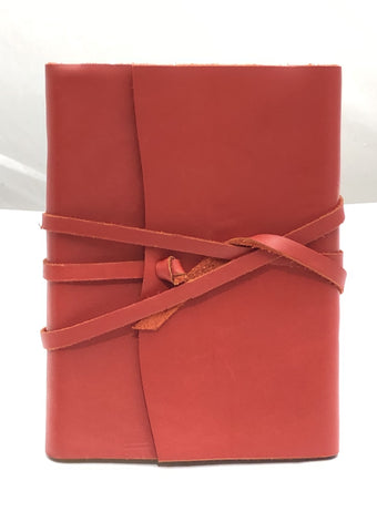 Wrap Leather Journal Medioevalis Red Large