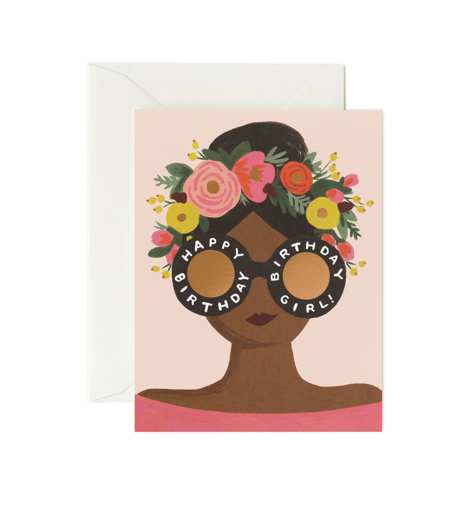 Rifle Paper Co - Single Card - Flower Crown Birthday Girl