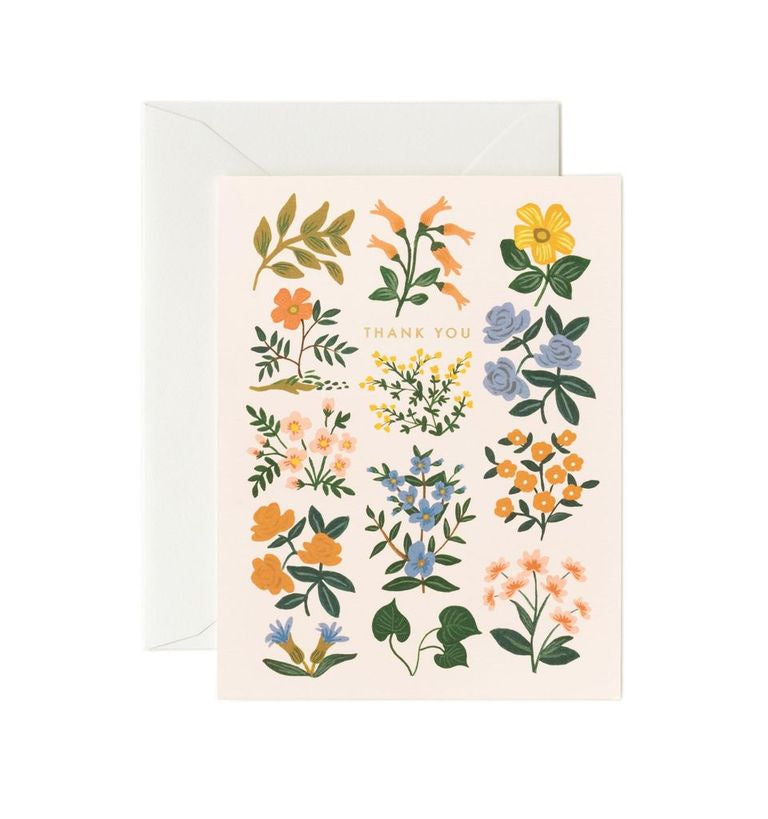 Rifle Paper Co - Single Card - Wildwood Thank You