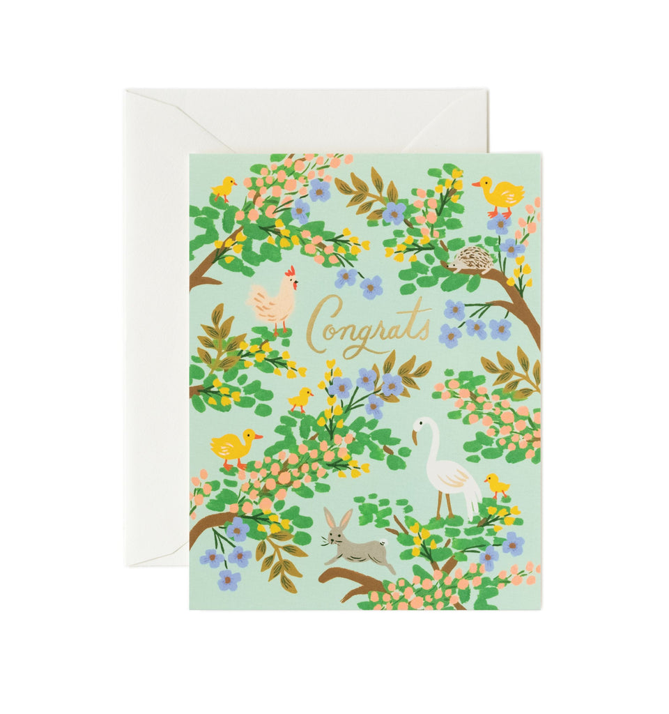 Rifle Paper Co - Single Card - Congrats Forest