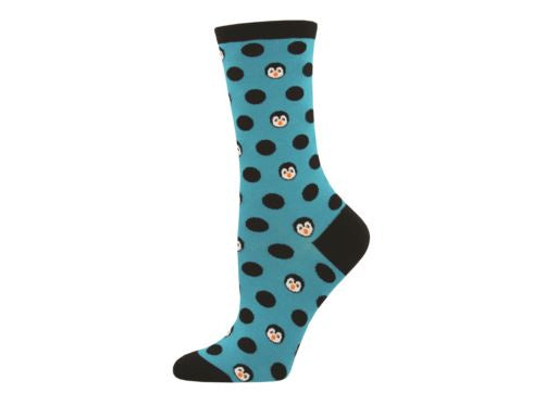 Socksmith Ladies Socks Penguinka-Dot - Turquoise