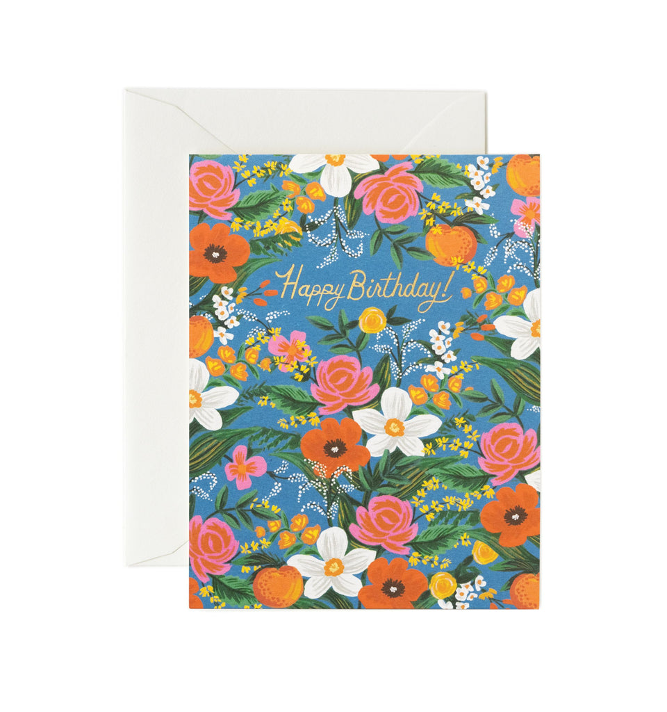 Rifle Paper Co - Single Card - Orangerie Birthday