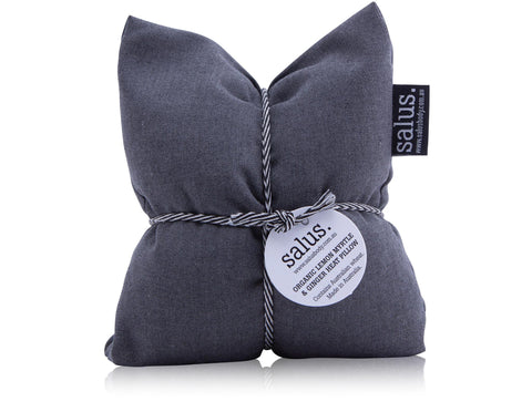 SALUS -HEAT PILLOW GREY - LEMON MYRTLE & GINGER