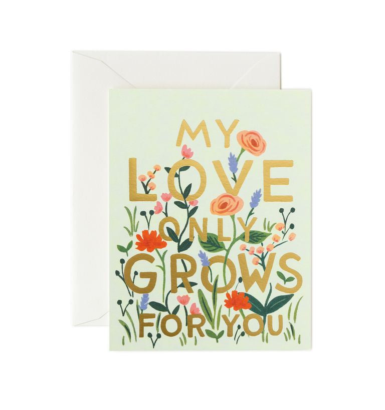 Rifle Paper Co - Single Card - Love Grows