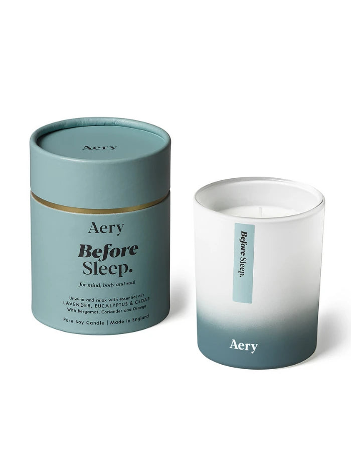 AERY LIVING - AROMATHERAPY 200G SOY CANDLE - BEFORE SLEEP