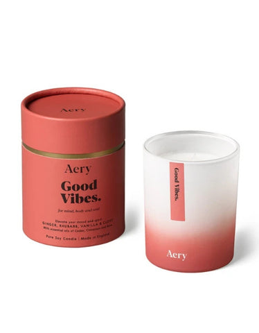AERY LIVING - AROMATHERAPY 200G SOY CANDLE - GOOD VIBES