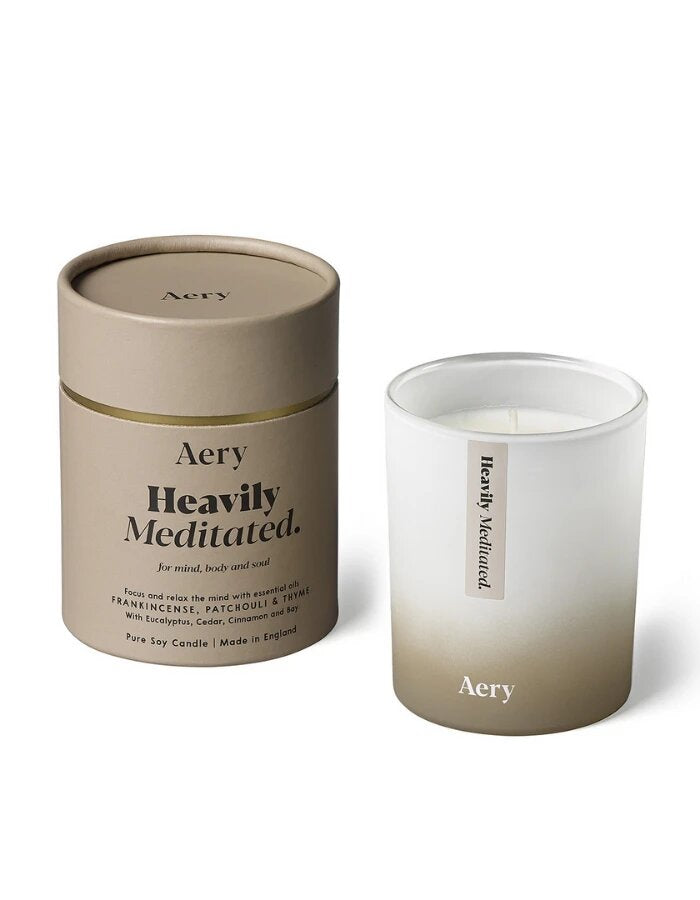 AROMATHERAPY 200G SOY CANDLE - HEAVILY MEDITATED