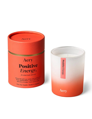 AERY LIVING - AROMATHERAPY 200G SOY CANDLE - POSITIVE ENERGY
