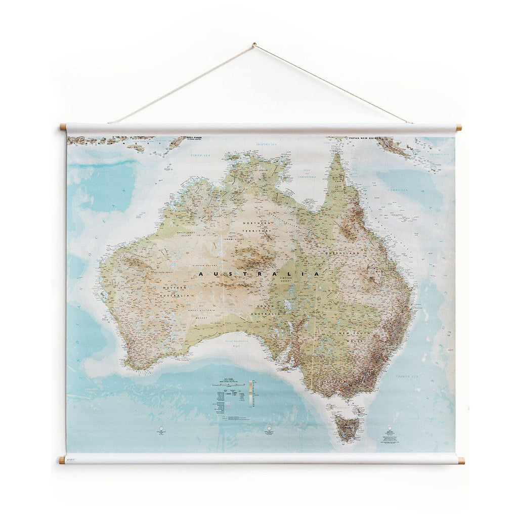 AUSTRALIAN CANVAS MAP (1.4M X 1,.1M)