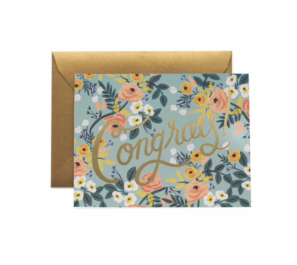 Rifle Paper Co - Single Card - Blue Meadow Congrats