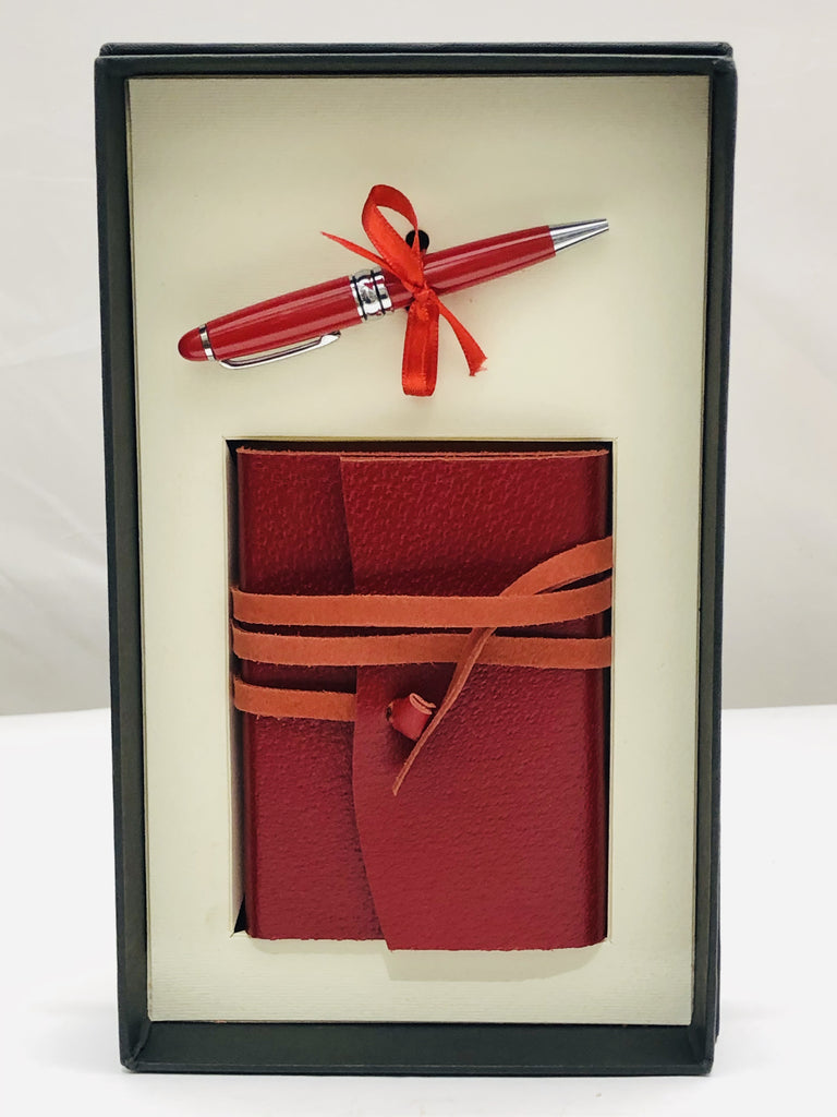 Medioevalis Journal Red Small With Bambolina Pen