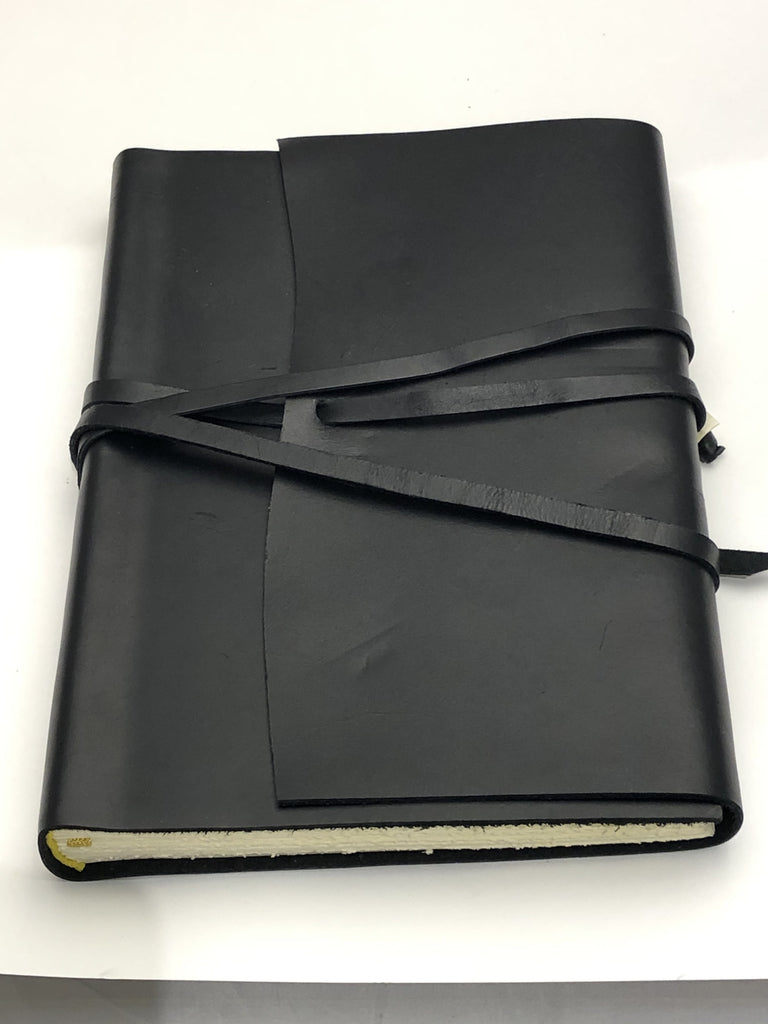 Wrap Leather Journal Medioevalis Black Large