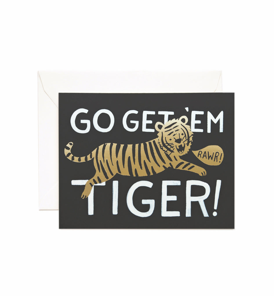 Rifle Paper Co - Single Card - Go Get 'Em Tiger
