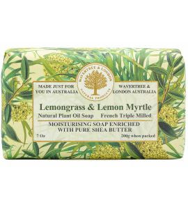 NATURAL PLANT OIL SOAP - LEMONGRASS AND LEMON MYRTLE