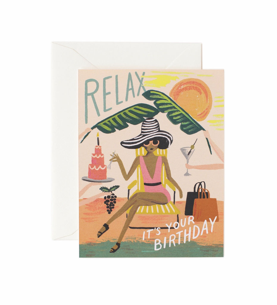 Rifle Paper Co - Single Card - Relax Birthday