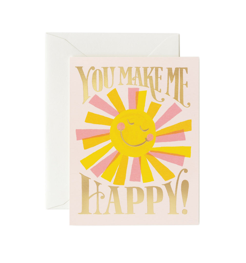 Rifle Paper Co - Single Card - You Make Me Happy