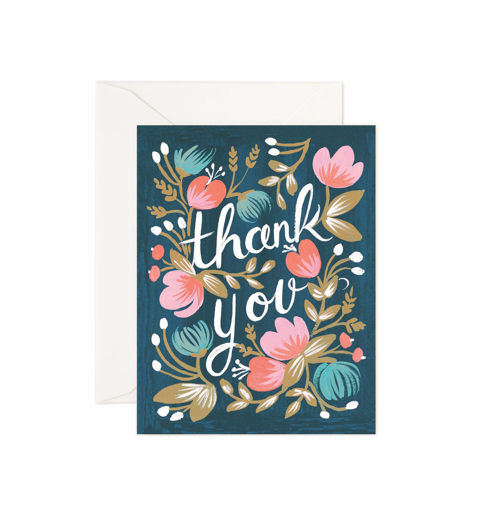 Rifle Paper Co - Single Card - Midnight Garden Thank You