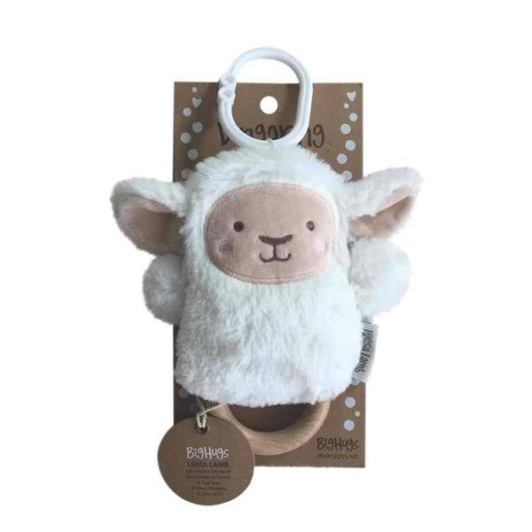 OB DESIGNS - WOODEN TEETHER LEE LAMB