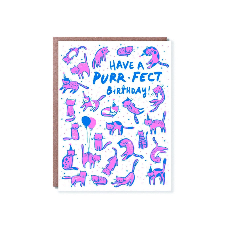 Hello Lucky - Single Card - Purr-fect Birthday