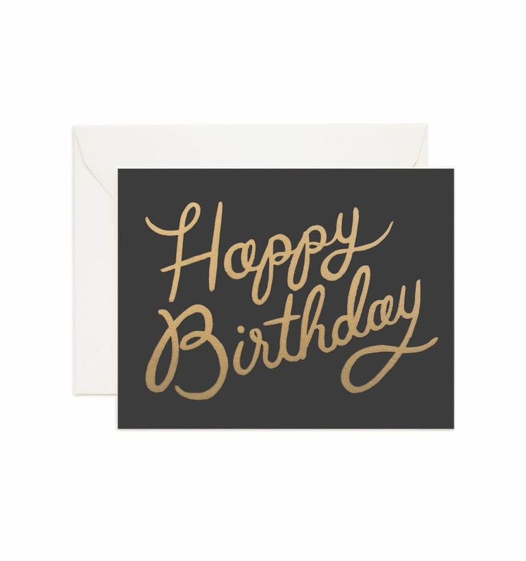 Rifle Paper Co - Single Card - Shimmering Happy Birthday