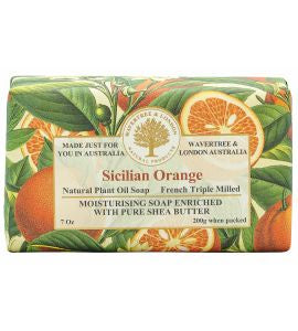 NATURAL PLANT OIL SOAP - SICILIAN ORANGE