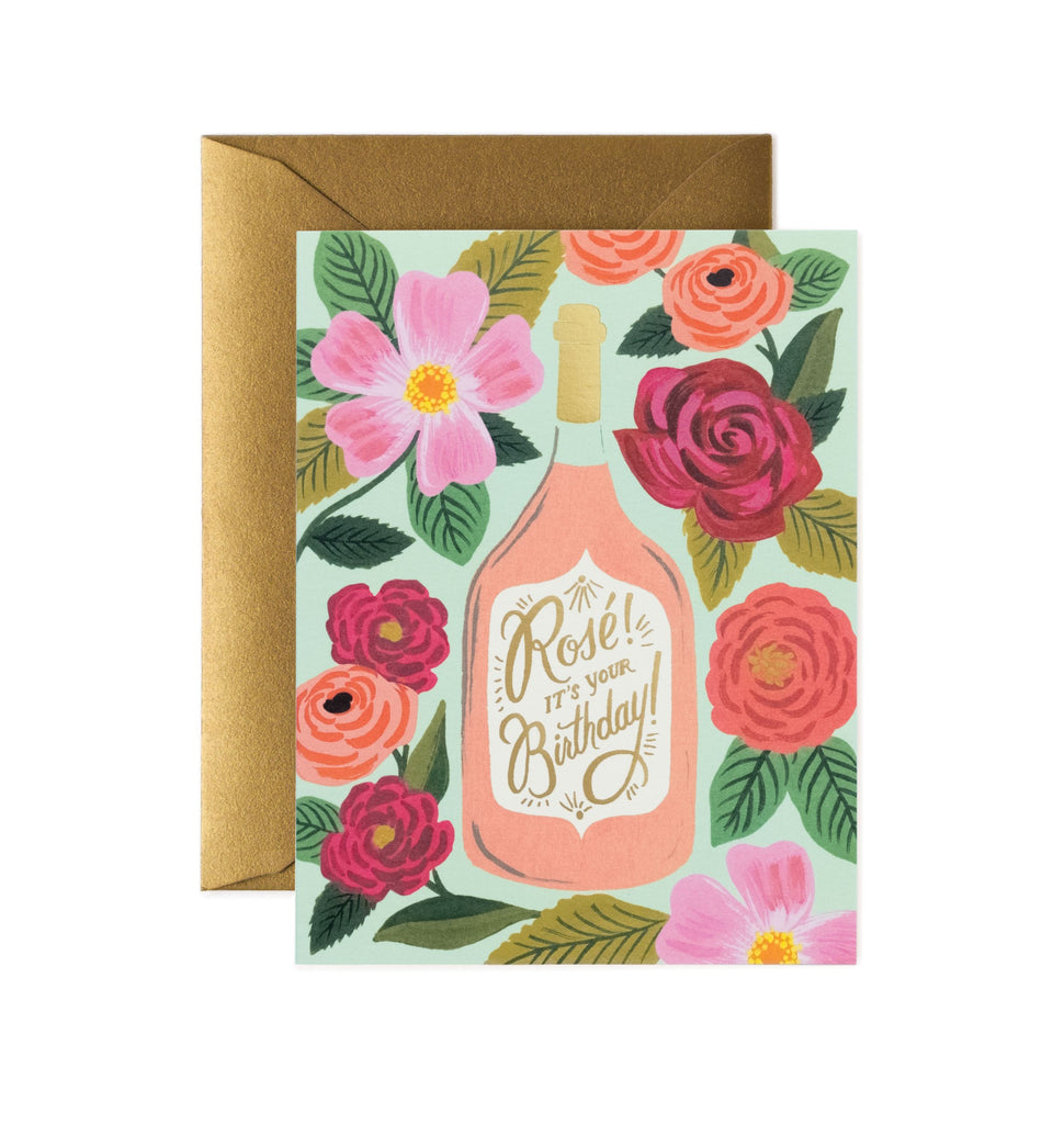 Rifle Paper Co - Single Card - Rosé It's Your Birthday