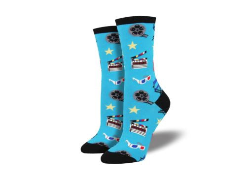 Socksmith Ladies Socks Movie Night - Blue